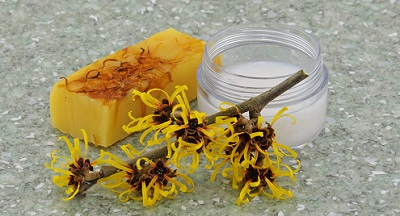 natural cosmetics with witch hazel.