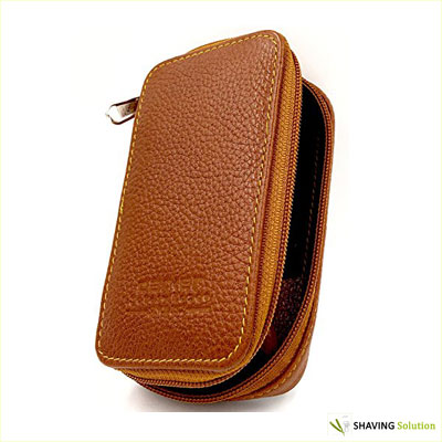 Genuine Leather Safety Razor Travel Case