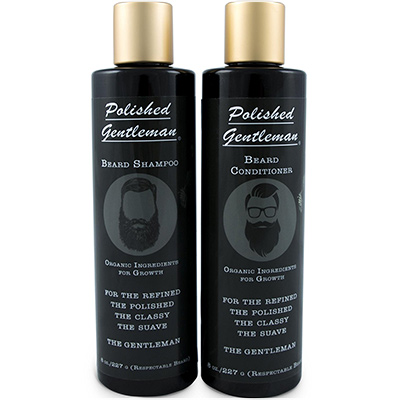 polished gentleman beard growth shampoo