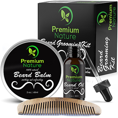 premium nature beard grooming kit