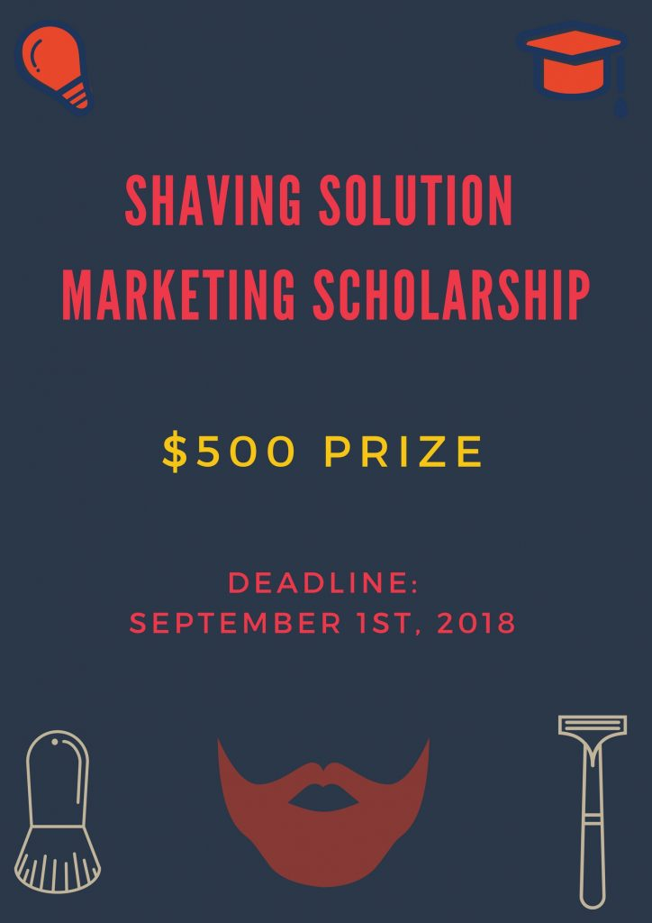 shaving solution scholarship