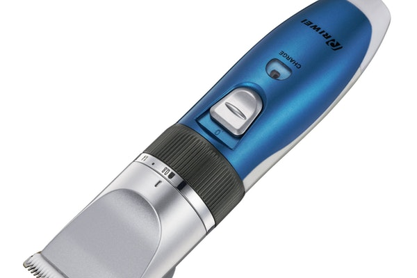 blue electric shaver
